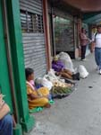 Natives selling their products in a street of San Jose