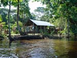 House along the Rio Frio, toward Tortuguero, Costarica